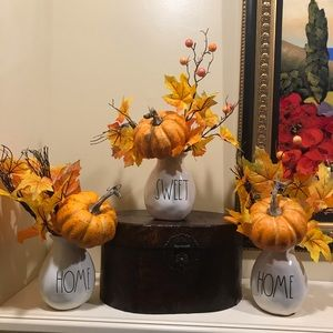 Rae Dunn HSH with Pumpkins and Fall Foliage!
